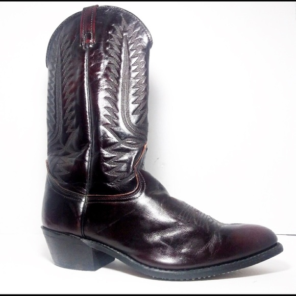 b2b49db342e Sheplers Dark Burgundy Cowboy Boots Size 11.5D